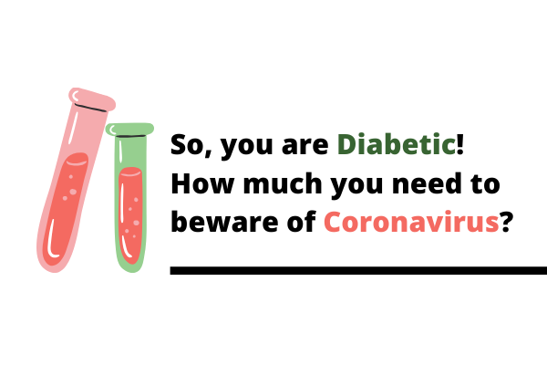 What is risk scale of coronavirus if you are diabetic?
