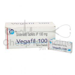 Vegafil 100Mg, Rx Sildenafil Front View