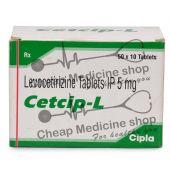 Cetcip L 5 Mg, Xyzal, Levocetirizine dihydrochloride