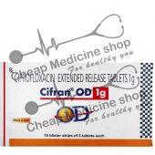 Buy Cifran OD 1000 Mg (Cipro, Ciprofloxacin)