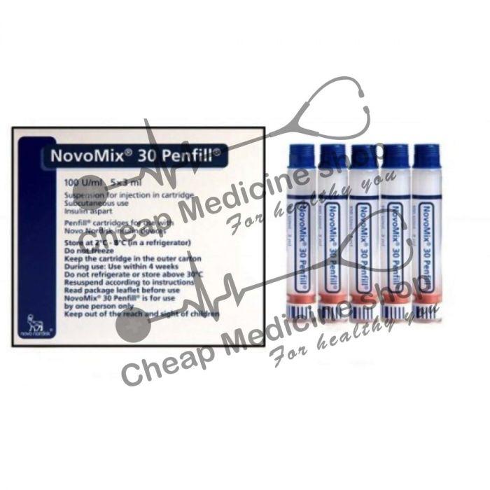 Novomix 30 100iu Ml Penfill Insulin Novo Log Flexpen