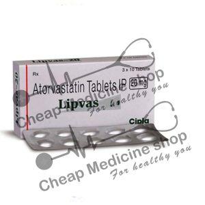 Buy Lipvas 10 Mg Tablet (Lipitor)