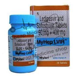 Buy Myhep LVIR Tablet 90 Mg + 400 Mg