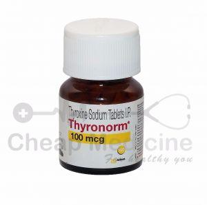 Thyronorm 100mcg, Thyroxine Sodium Front View