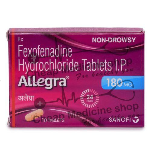 Allegra 180 Mg, Allegra, Fexofenadine