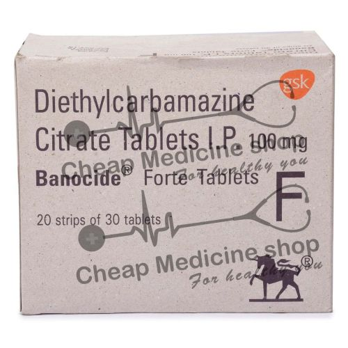 Banocide Forte 100 Mg, Banocide Forte, Diethylcarbamazine