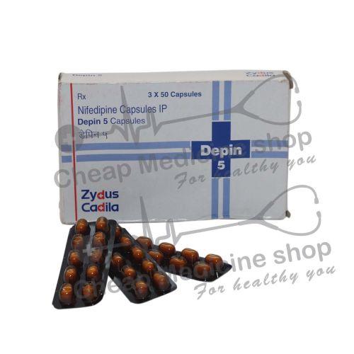 Depin 5 mg, Procardia, Nifedipine
