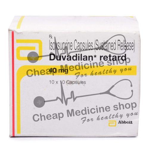 Duvadilan Retards 40 Mg, Vasodilan, Isoxsuprine Hcl