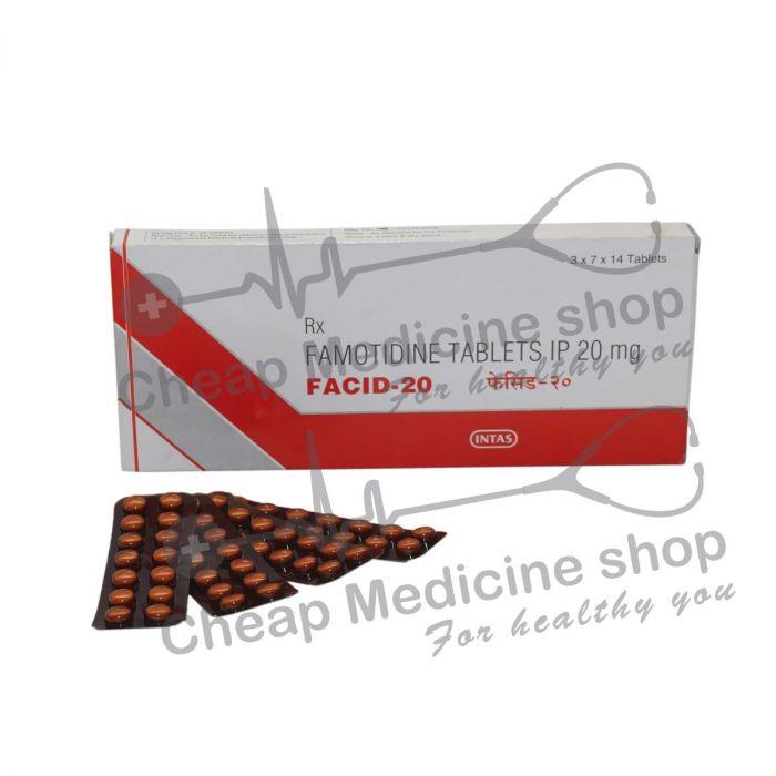 Facid 20 Mg, Pepcid, Famotidine