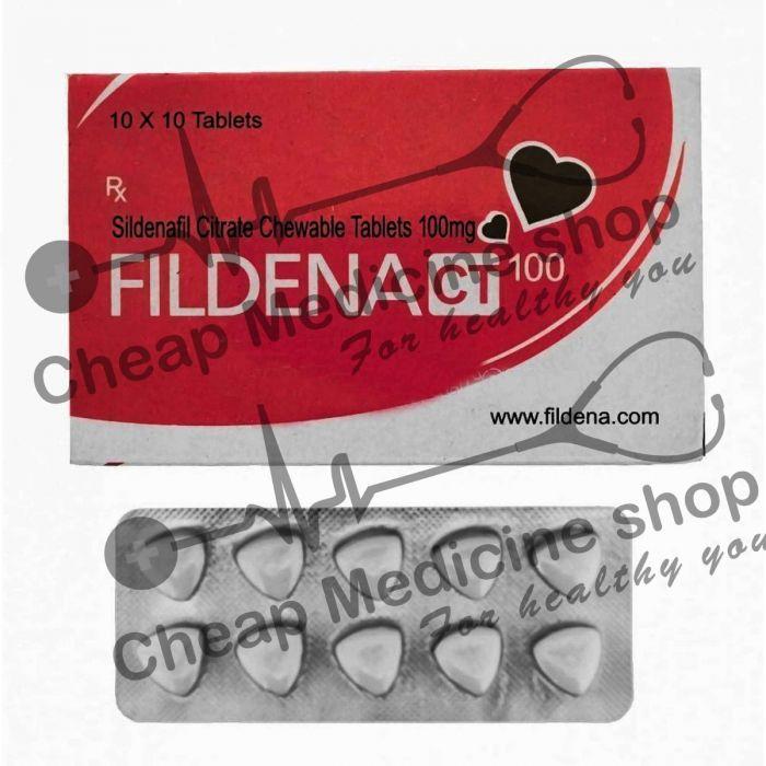 Buy Fildena Chewable Tablet 100 Mg