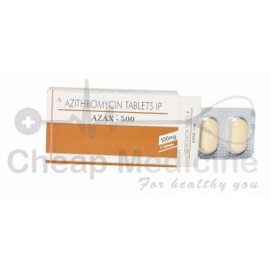 Azax 500Mg, Azithromycin Front View
