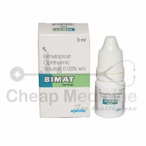 Bimat 0.3%, Rx Bimatoprost Ophthalmic Solution Front View