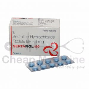 Sertanol 50Mg, Rx Sertraline Hydrochloride Front View