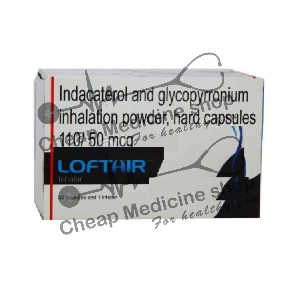 Loftair Inhaler 20 Mcg+20 Mcg   Indacaterol+Glycopyrrolate