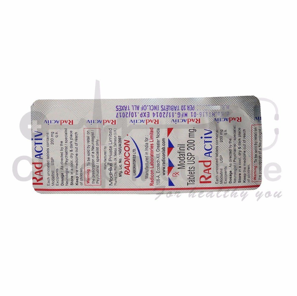 Radactiv 200mg Viagra Cialis Provigil Modafinil Cheap