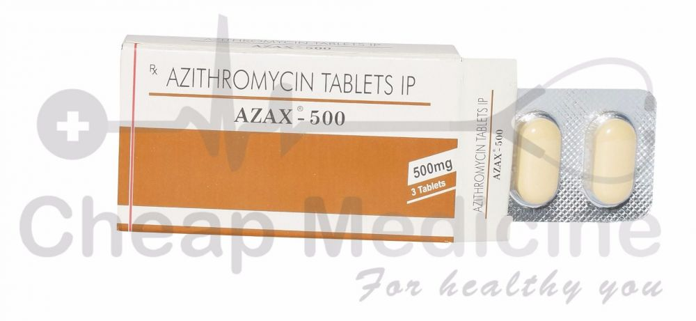 Azax 500 Mg, Azithromycin, Zithromax Front View