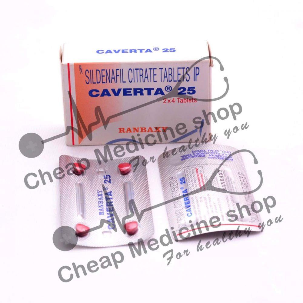 Buy Caverta 25 Mg Tablet (Sildenafil Citrate)