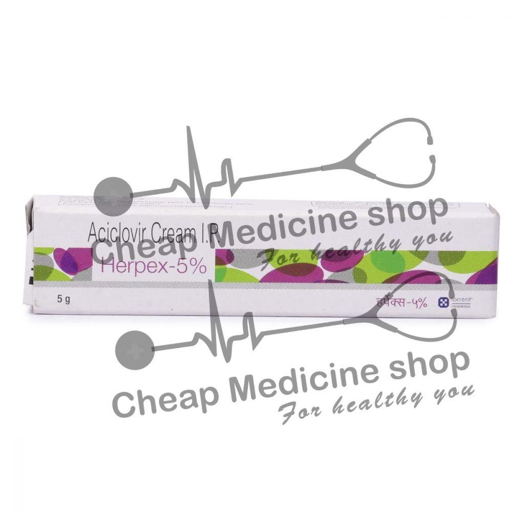 Herpex Cream 5 Gm, Zovirax Cream, Acyclovir