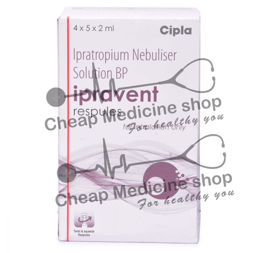 Ipravent Respules  2 ml, Atrovent Respules, Ipratropium Bromide