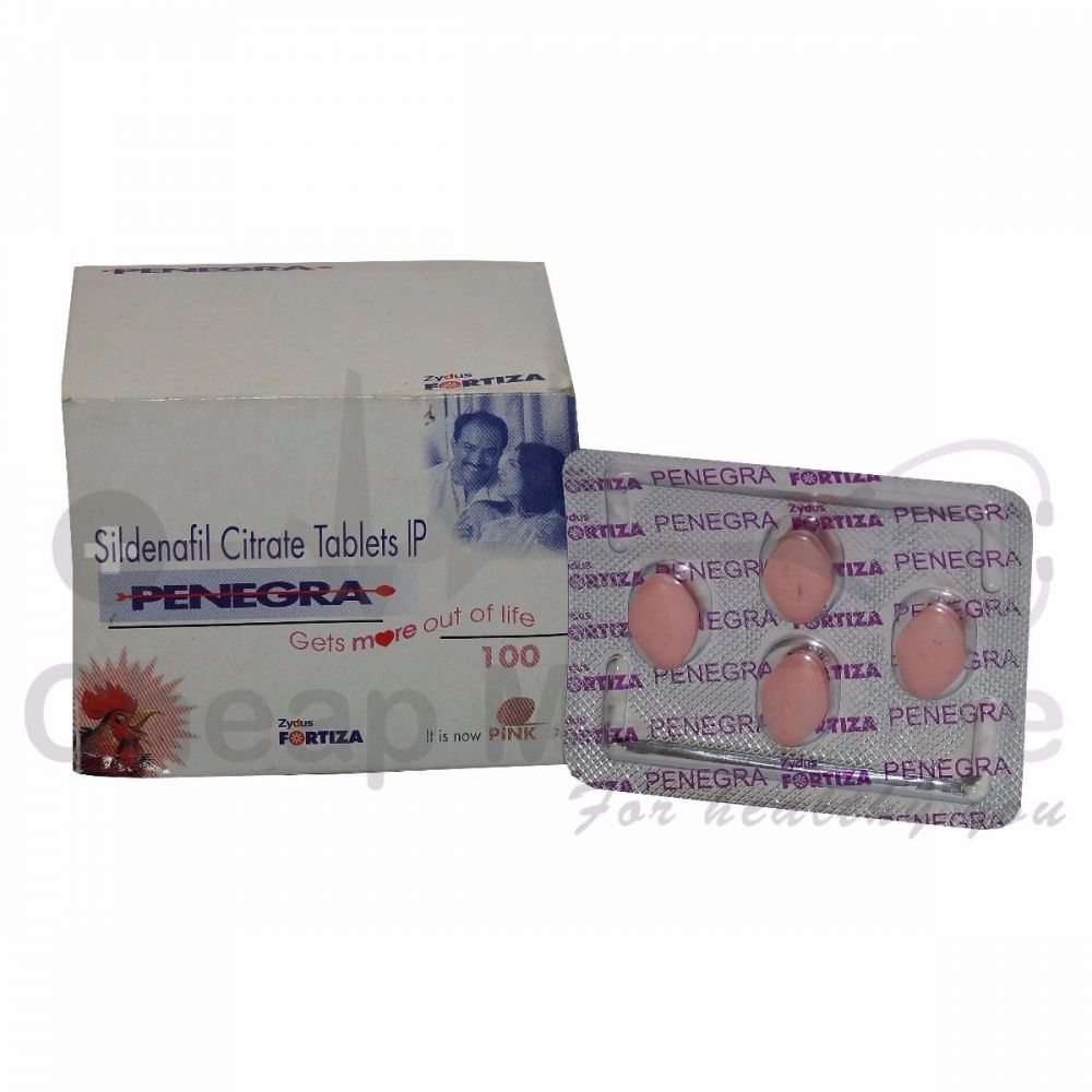 Penegra 100Mg with Sildenafil Citrate Front View