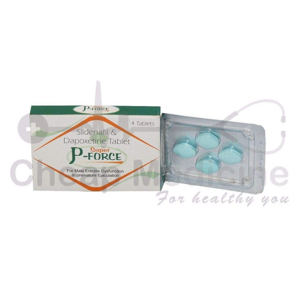 Super P Force 100Mg with Sildenafil & Dapoxetine Front View