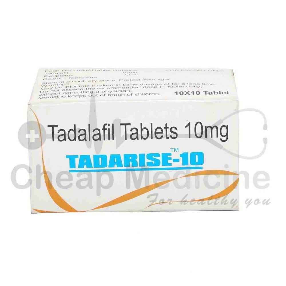 Tadarise 10Mg with Tadalafil Front View