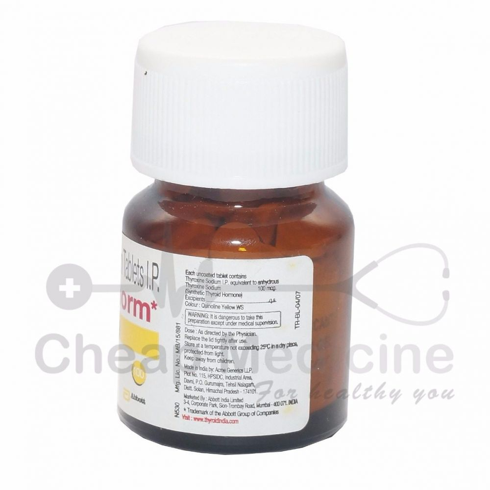 Thyronorm 100 Mcg Thyroxine Levothyroxine It S Uses Side