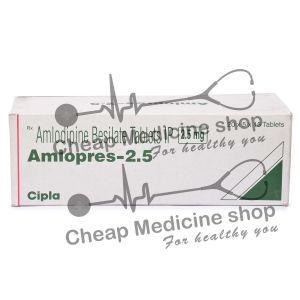 Amlopres 2.5 Mg, Norvasc, Amlodipine Besilate