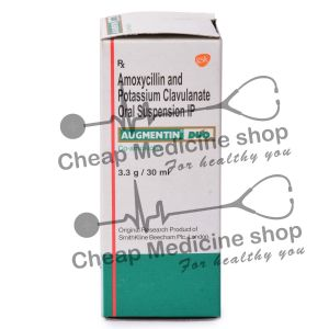 Augmentin Dry Syrup 30 ml, Augmentin Dry Syrup, Amoxicillin and Clavulanic Acid