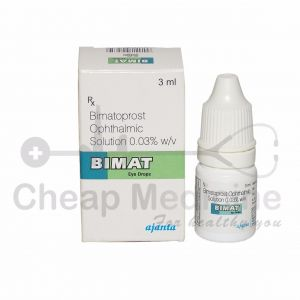 Bimat 0.03% w/v, Bimatoprost Ophthalmic Solution Front View
