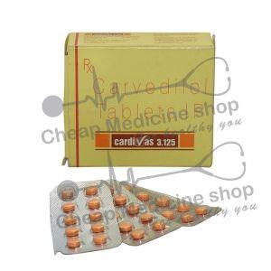 Cardivas 3.125 Mg, Coreg, Carvedilol