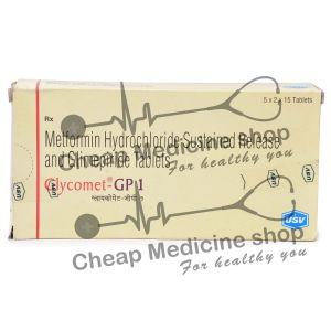 Glycomet GP (500+1) Mg, Glycomet GP, Metformin + Glimepiride