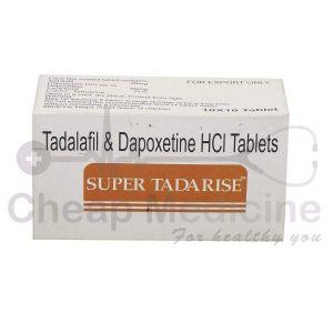 Super Tadarise 20Mg, Tadalafil &Dapoxetine HCL Front View