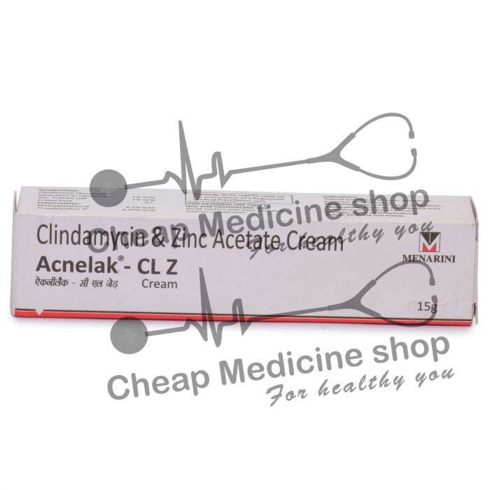 Acnelak CL Z Cream 15 Gm Gel, Acnelak CL Z, Clindamycin & Zinc Acetate