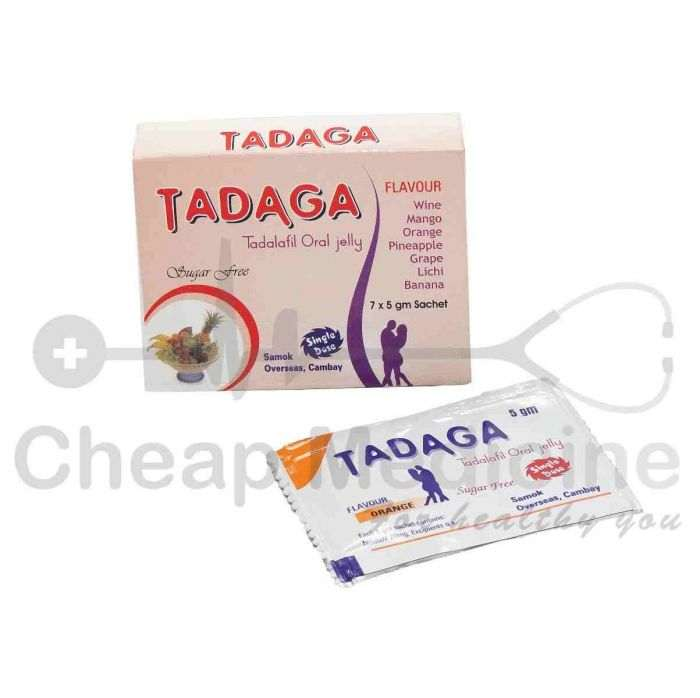 Tadaga 5gm with Tadalafil Oral Jelly Front View