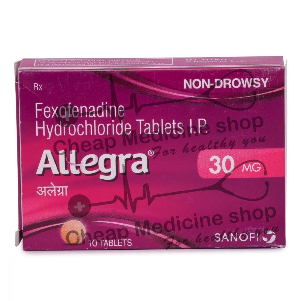 Allegra 30 Mg, Allegra, Fexofenadine
