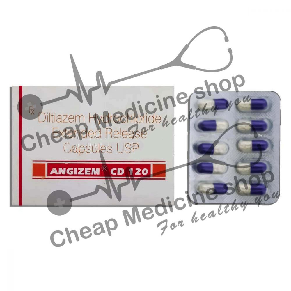 Buy Angizem CD 120 Mg (Cardizem)