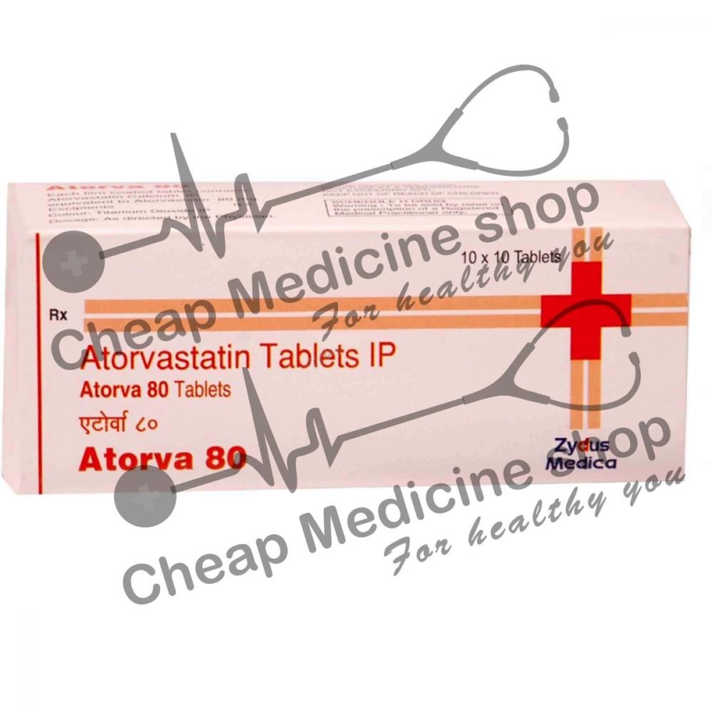 Buy Atorva  80 Mg (Lipitor, Atorvastatin)
