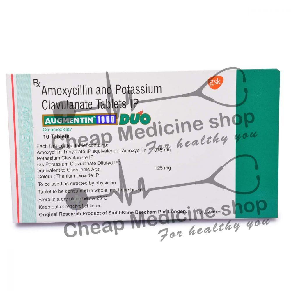 Augmentin 1000 Mg, Augmentin, Amoxicillin Clavulanic Acid