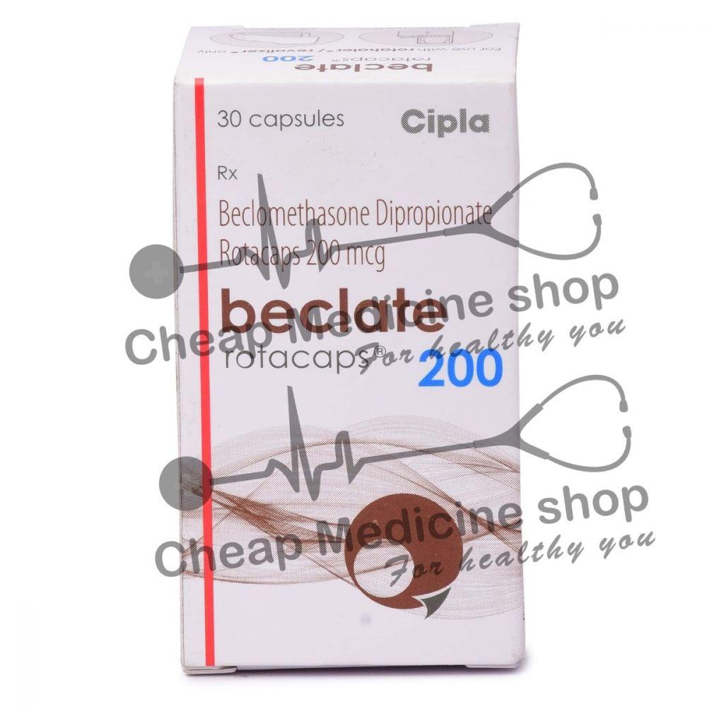 Beclate Rotacaps 200 Mcg, Beclovent, Beclomethasone Dipropionate