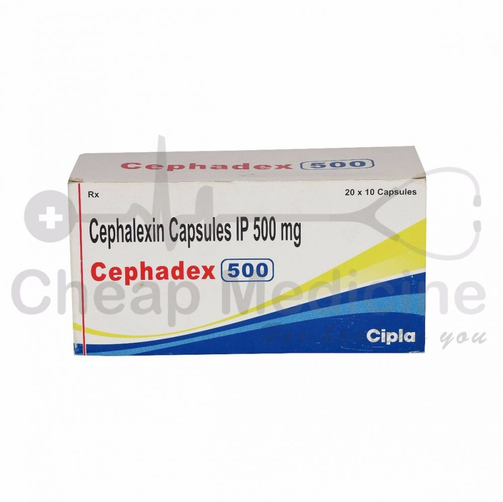 Cephadex 500 Mg, Cephalexin, Keflex Front View