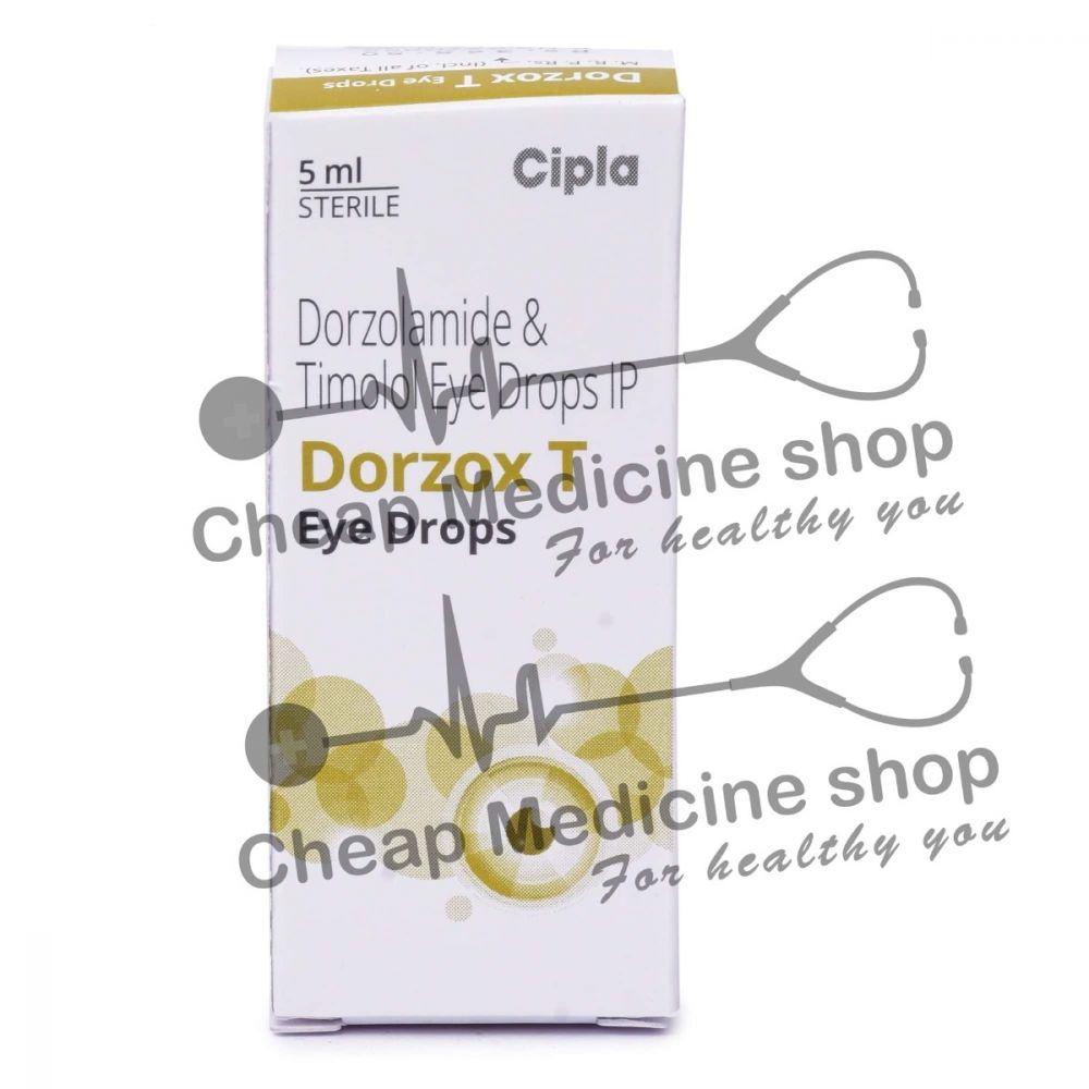 Dorzox T 5 ml Eye Drop, Cosopt, Dorzolamide, Timolol