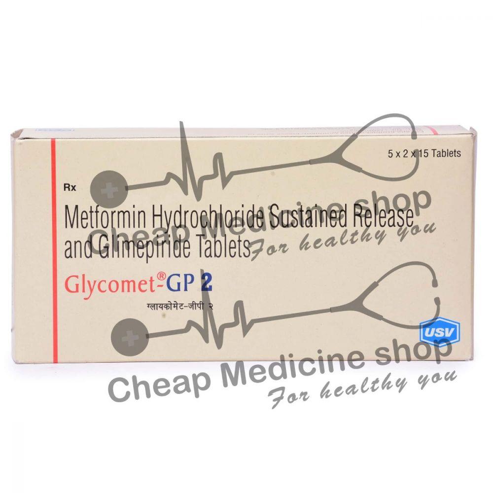 Glycomet GP (500+2) Mg, Glycomet GP, Metformin + Glimepiride