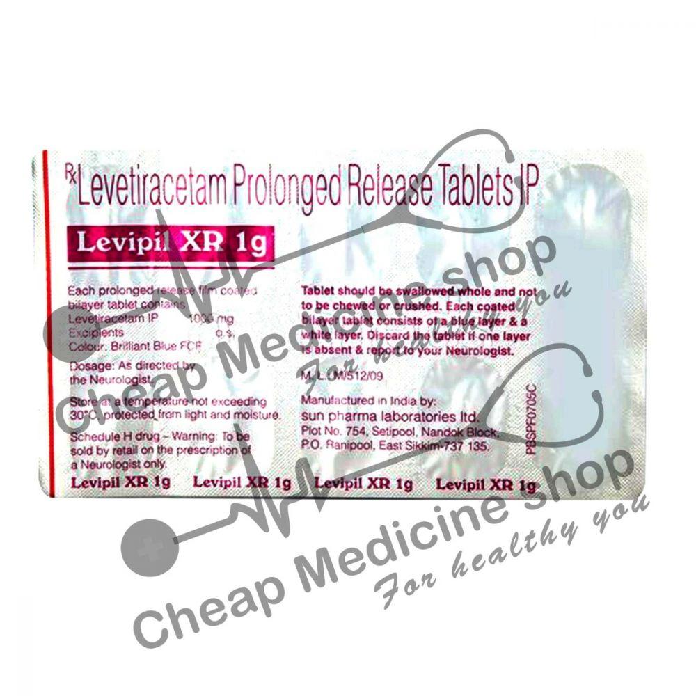 Buy Levipil XR 1000 Mg Tablet (Keppra)