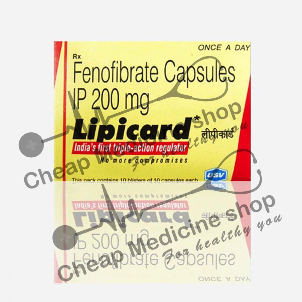 Buy Lipicard 200 Mg Capsule