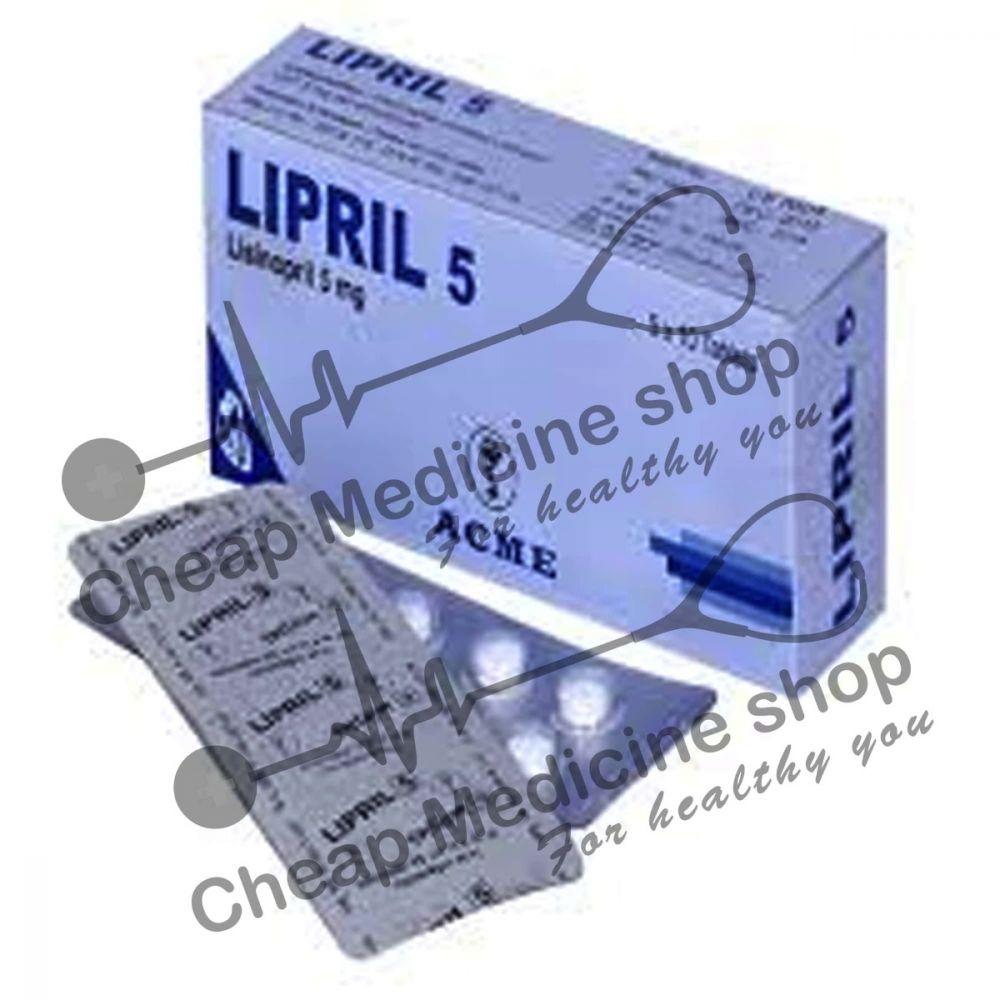 Buy Lipril 5 Mg Tablet (Prinivil)