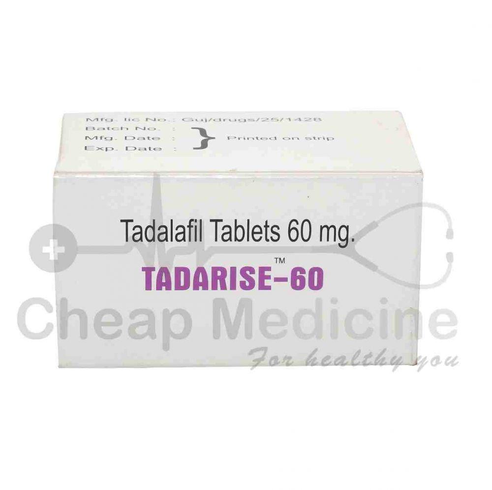 Tadarise-60Mg, Tadalafil Front View