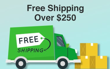 Free Shipping Over $250